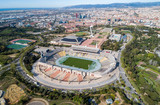 View Point Of Barcelona in Spain. Olympic Stadium