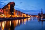 Gdansk River View At Dusk