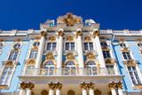 Tsarskoye Selo, Pushkin. Suburb of St. Petersburg, Russia. Catherine Palace. View of the facade
