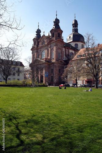 canvas print picture schillerplatz mit jesuitenkirche