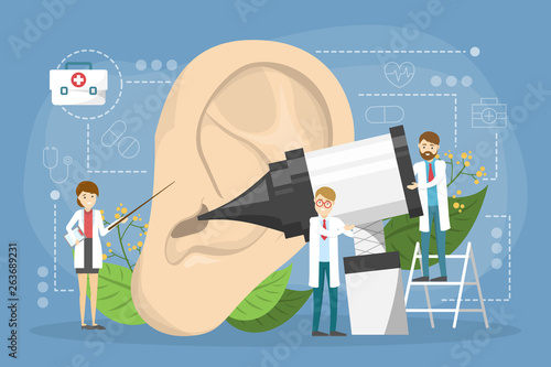 Doctore make ear examination concept. Idea of medical treatment © artinspiring