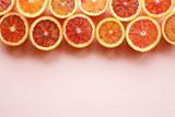 Red blood orange fruit Background. Oranges Slices. Healthy Food