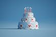 Birthday cake blue