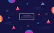 Colorful Geometric Shapes Background for Modern Design, Banner, Poster,  Flyer. Vector Illustration. - 263768045
