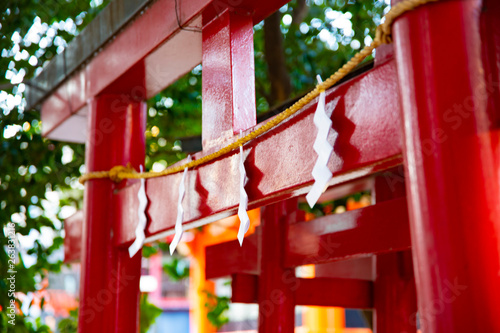 Big religious gate at Hanazono shrine in Tokyo © footagemaker2018