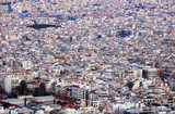 Aerial view of Athens  from Lycabettus hill, Historic center, Attica, Greece