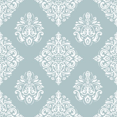 Orient classic blue and white pattern. Seamless abstract background with vintage elements. Orient background