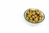 Green olives served in a bowl