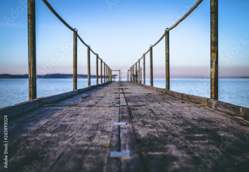 Old dock out to sea © McKensie