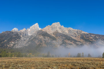 Scenic Teton Landscape in Autumn