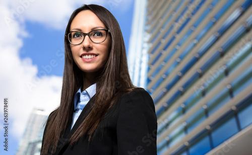 Smiling businesswoman poirtrait © Minerva Studio