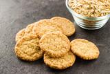 Fototapeta Kawa jest smaczna - Crispy oatmeal cookies. © Jiri Hera