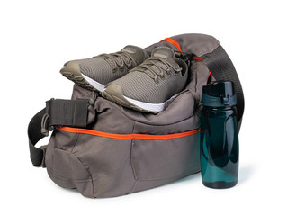 Sports bag with sports equipment © Gresei