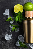 Igredients for refreshing Mojito cocktail