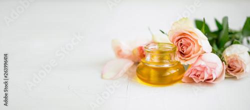 Rose oil bottle