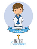 First communion boy card