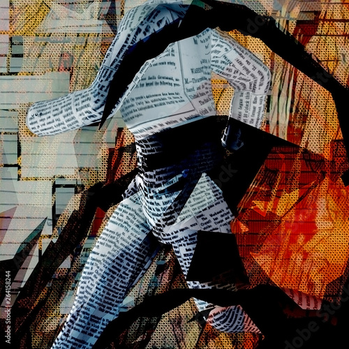 Running paper man © rolffimages
