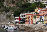 colorful houses and building Parga Greece summer vacation