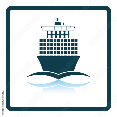 Container ship icon front view © Konovalov Pavel