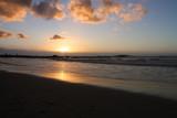 coucher de soleil sur une plage en Afrique du Sud