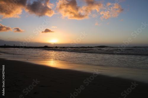 coucher de soleil sur une plage en Afrique du Sud © Monique Pouzet