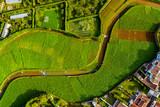Azoren - Sao Miguel aus der Luft: Terra-Nostra-Park mit Thermalbad