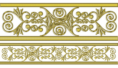 gold pattern on a white background