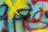 Abstract colorful graffiti detail.