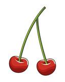 cherries icon cartoon