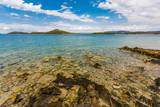 Beautiful, idyllic, sunny summer seascape. Murter, Croatia, Dalmatia, Europe.