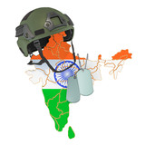 Indian military force, army or war concept. 3D rendering