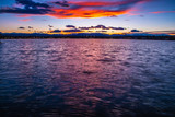 Colorful Spring Sunset on Sloans Lake in Colorado