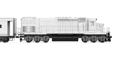 Diesel Locomotive Train Isolated