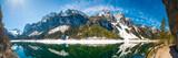 Panorama mit Dachstein Gletscher und Gosaukamm in Österreich