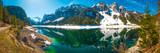 Gosausee mit Dachstein Gletscher und Gosaukamm in den Alpen von Österreich - Panorama