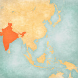 Map of East Asia - India