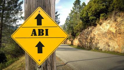Schild 349 - Abi