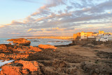 Seaside view of Essaouira in Morocco on the Coast of Atlantic Ocean