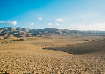 Jordan desert in a sunny day