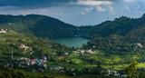Aerial view of naukuchiatal Lake, Uttarakhand, India