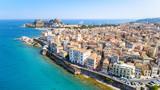 Panoramic view of Kerkyra, capital of Corfu island, Greece