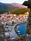 Greece-view on the city Parga