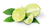 lime  isolated on white
