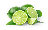 Lime. fruit  isolated on white