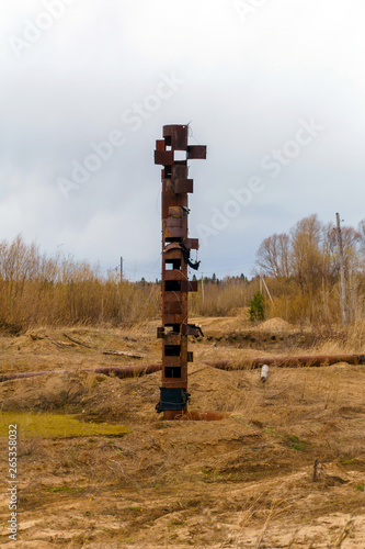post-industrial totem pole