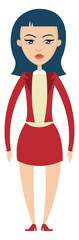 Girl in red outfit illustration vector on white background © Morphart