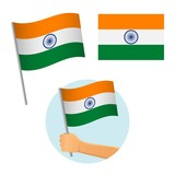 India flag in hand