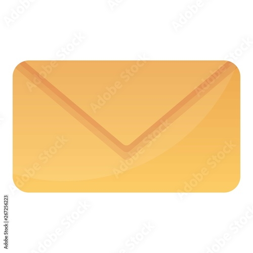 Post envelope icon. Cartoon of post envelope vector icon for web design isolated on white background