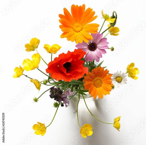 Bouquet Di Fiori Di Campo Isolati Su Sfondo Bianco Buy Photos Ap