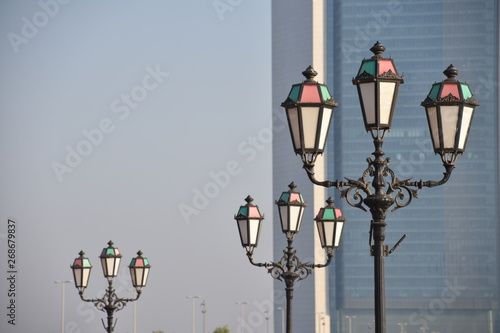 Lamp Post Ring at Abu Dhabi Marina, UAE